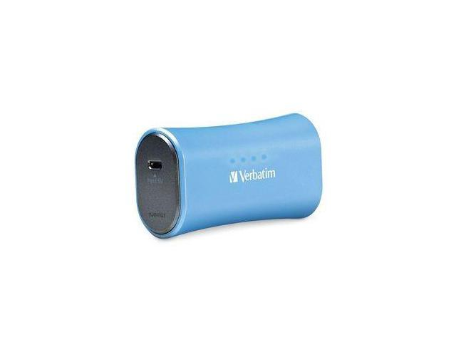 Verbatim Aqua Blue 2200 mAh Portable Power Pack 98359
