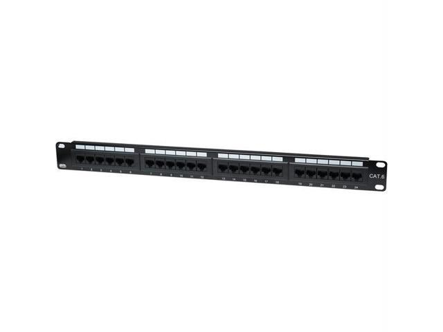 Intellinet Network Solutions 24-Port UTP 1U Cat6 Patch Panel - Black