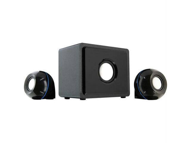 GPX HT12B 2.1 Channel 3-Speaker System with Subwoofer, Black