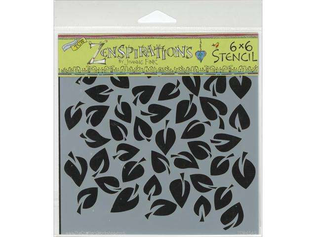 Crafters Workshop TCW6X6-464 Crafters Workshop Template 6 in. X6 in. -Dancing Leaves