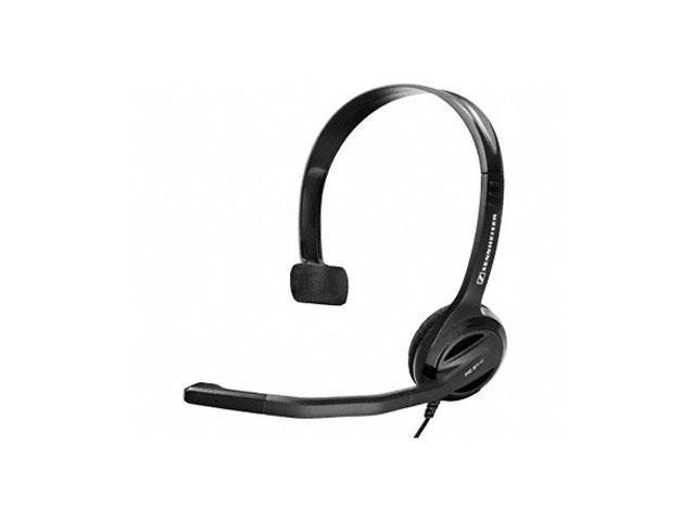 Sennheiser PC 21-II Headset - Mono - Black - Mini-phone - Wired - 32 Ohm - 40 Hz - 18 kHz - Over-the-head - Monaural - Supra-aural - 9.84 ft Cable - Noise Cancelling Microphone