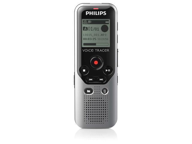 Philips Voice Tracer DVT1200 4GB Digital Voice Recorder - 4 GB Flash Memory - 1.3