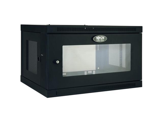 Tripp Lite SRW6UG 6U SmartRack 6U Wall-Mount Standard-Depth Rack Enclosure Cabinet, Plexiglass Front Door Insert