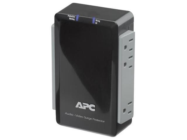 APC P6V 6 Outlets 1700 Joules Audio/Video Surge Protector with Coax Protection
