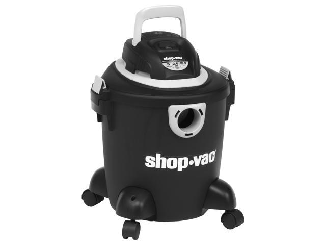 """Shop-Vac Quiet Canister Vacuum Cleaner - 1.49 kW Motor - 190 W Air Watts - 5 gal - Bagged - 6 ft Cable Length - 84"""" Hose ..."""