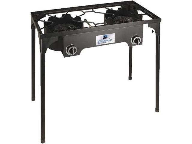 Stansport Stove - 2 x Burner - Cast Iron, Steel Bezel
