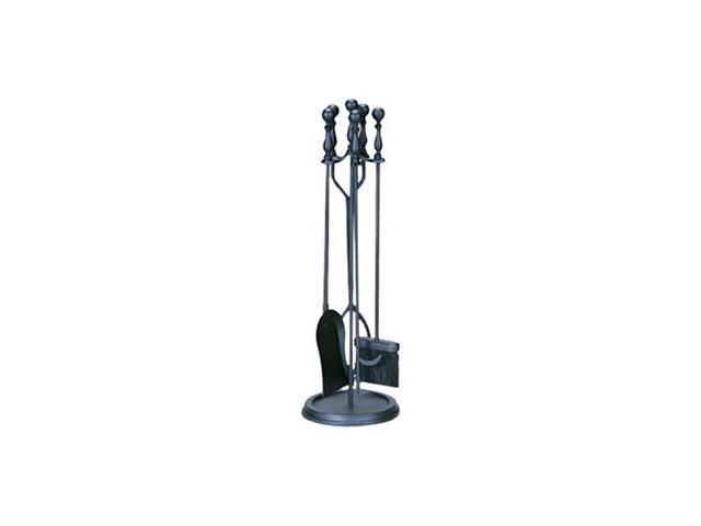 UniFlame 5 Piece Black Finish Fireset with Ball Handles