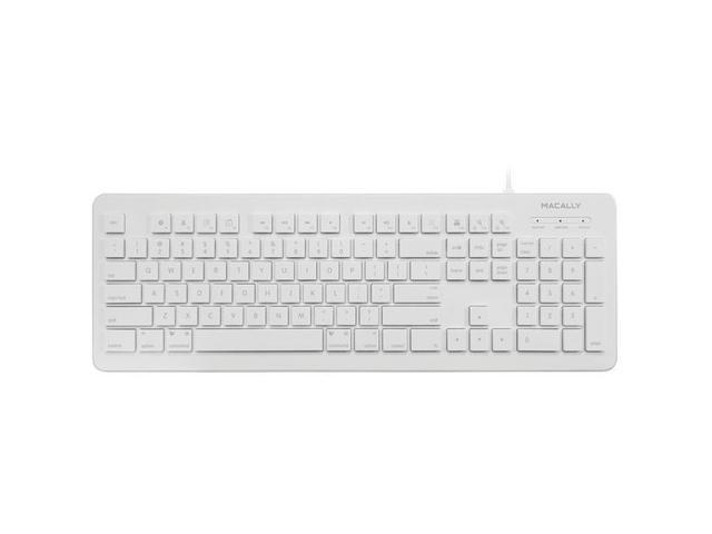 macally MKEYX White USB Wired Standard Keyboards