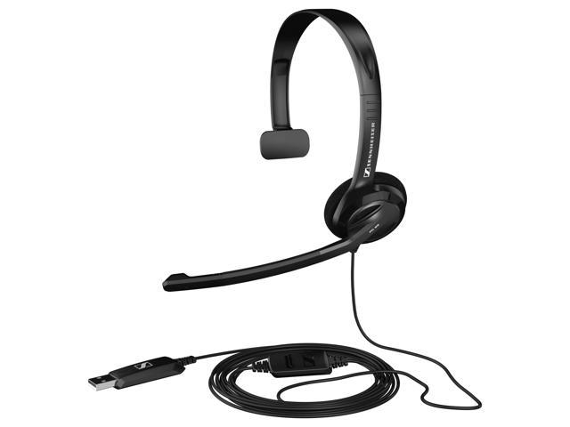Sennheiser PC 26 Headset - Mono - USB - Wired - 32 Ohm - 40 Hz - 18 kHz - Over-the-head - Monaural - Semi-open - 9.84 ft Cable - Noise Cancelling Microphone