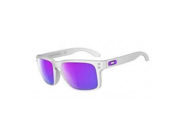 Oakley Holbrook Sunglasses Matte White / Violet Iridium