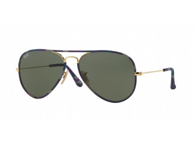 RB3025JM, Unisex Adults Aviator Sunglasses, Purple/Blue/Grey (172), 55 Ray-Ban