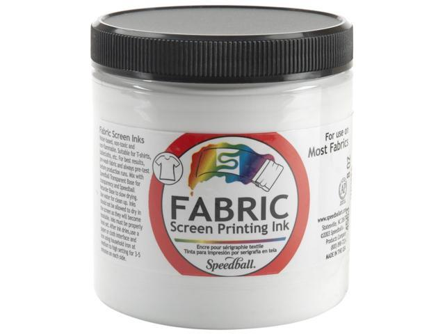 Fabric Screen Printing Ink 8 Ounces-White