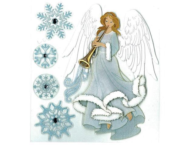 Jolee's Boutique Dimensional Stickers-Winter Angel