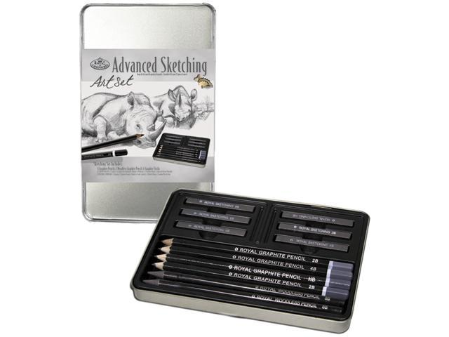 Advanced Sketching Art Set W/Tin-