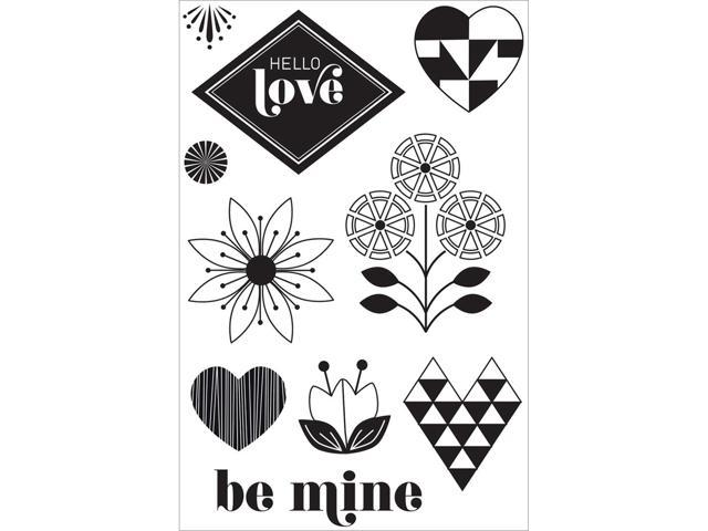 Basic Grey J'adore Clear Stamps By Hero Arts-Hello Love
