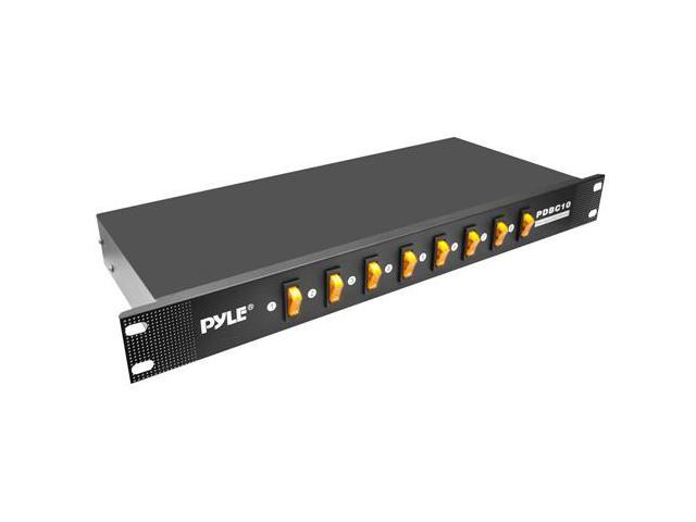 PylePro PDBC10 8 Outlet Rack Mount Power Supply Center with Each Outlet Switch