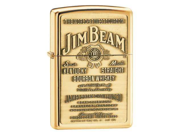 Zippo Jim Beam Brass Emblem Hp Brass 254Bjb.929
