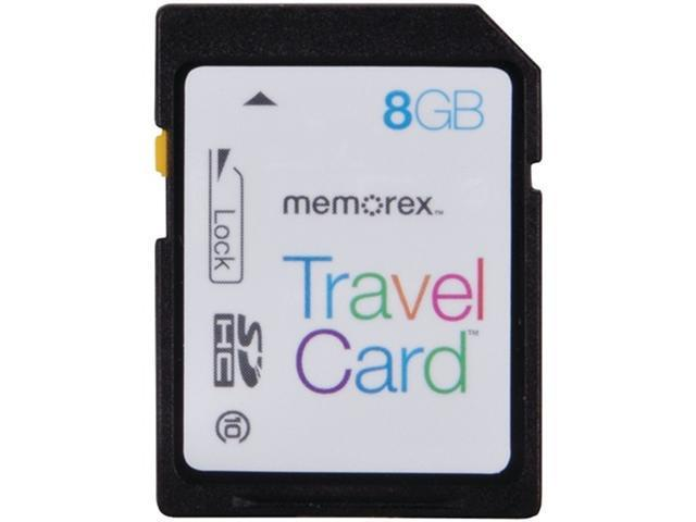 Memorex TravelCard 8 GB Secure Digital High Capacity (SDHC) - 1 Card/1 Pack