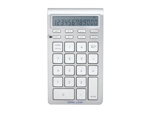 SMK-Link Bluetooth Calculator Keypad , White