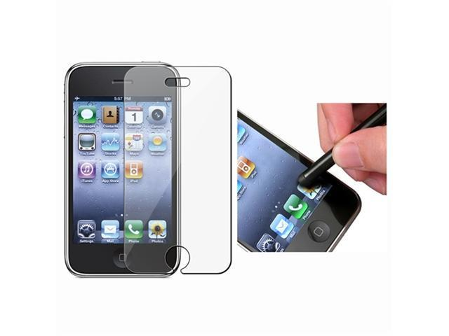 2 Pack Screen Protector + Stylus Pen (Black) Compatible With Apple® iPhone® 3G /3GS