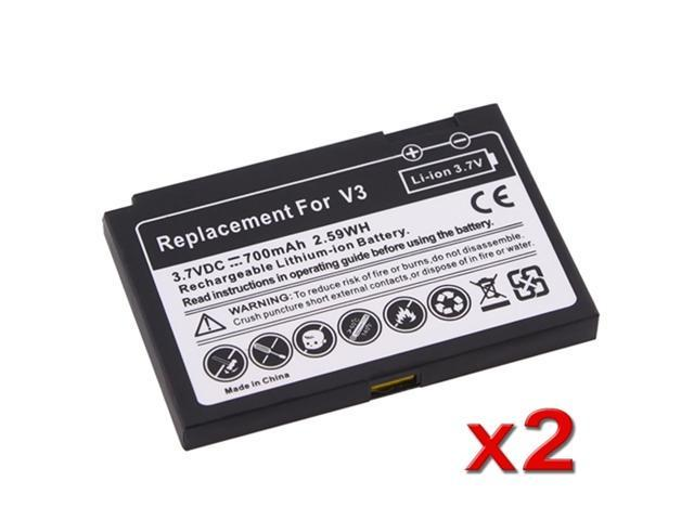 2 LOT For Motorola RAZR V3 V3c V3m LONG LIFE Battery