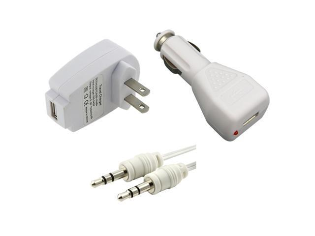 Cable+USB AC Wall+Car Charger For Apple® iPhone® 4 4G 3GS