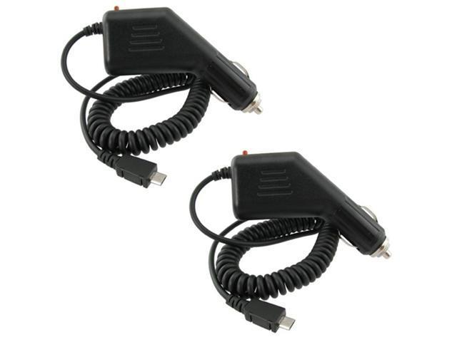 2x Premium Cell Phone Car Charger compatible with Sprint HTC Evo 4G
