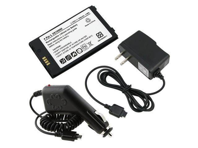 compatible with LG Verizon Voyager VX10000 Battery + Home + Car Charger