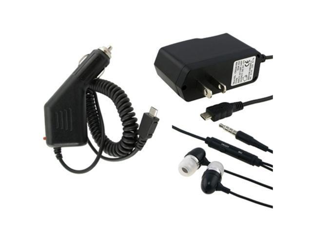 Headset + Travel Charger + Car Charger compatible with Nokia N85 / N96