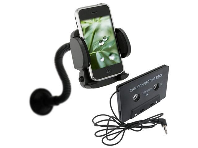 Cassette Tape+Car Mount compatible with iPhone® 4 4S iPod® touch® 4th Gen