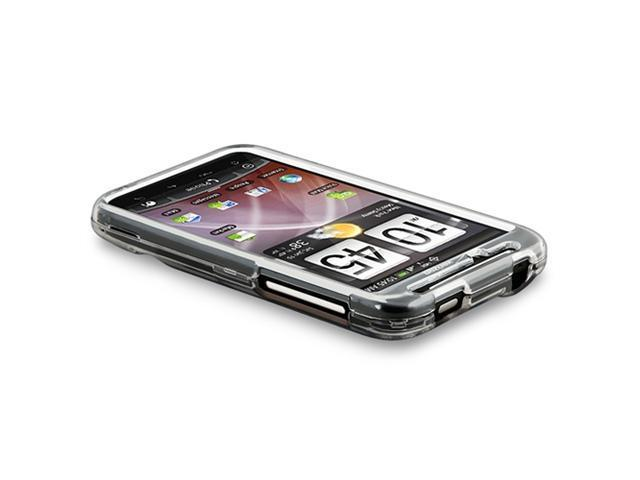 Snap-on Crystal Case compatible with HTC ThunderBolt 4G, Clear