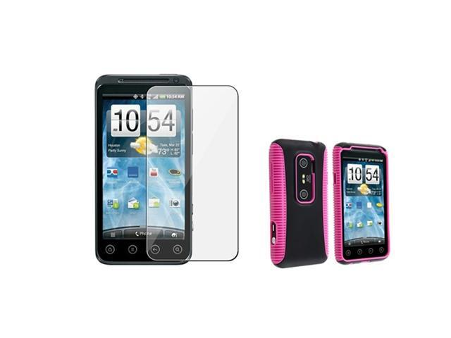 Insten Pink and Black Solid Cell Phone - Case & Covers