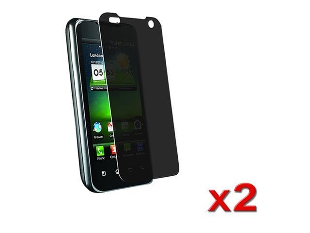 Twin Pack Privacy Filter Film compatible with LG G2X