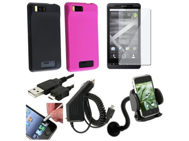 7in1 Accessory Bundle Case compatible with Verizon Motorola Droid X