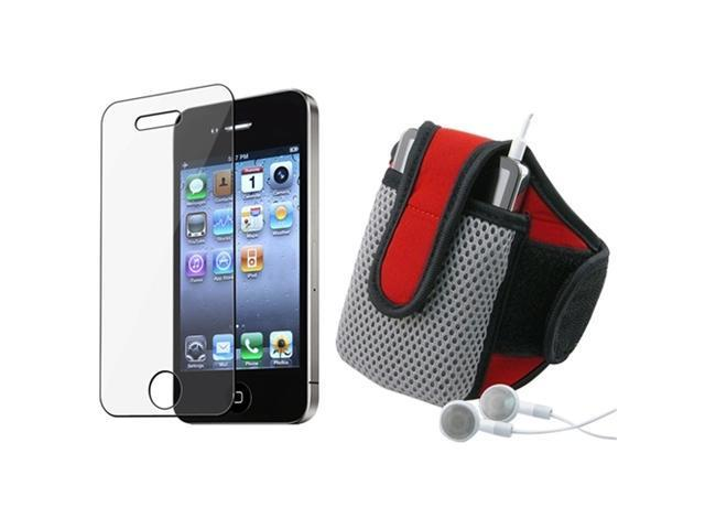 Armband Gym Sport Case Skin+LCD Protector Accessory compatible with Apple® iPhone® 4 s 4s 4G