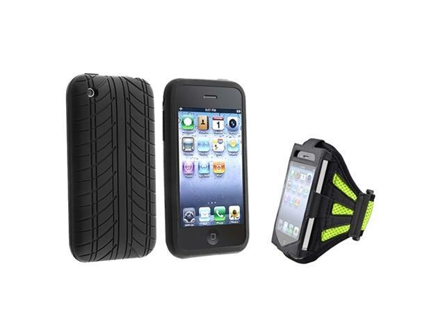 Insten Green and Black Solid Cell Phone - Case & Covers