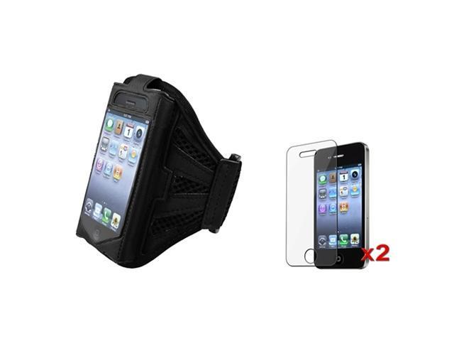 SPORT RUNNING ARMBAND CASE COVER+LCD compatible with Sprint Verizon AT&T iPhone® 4 G 4S 4GS