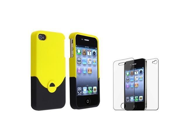 Yellow Black Hard Plastic Case Cover Skin Accessory compatible with iPhone® 4 4G 4S 4GS 4th