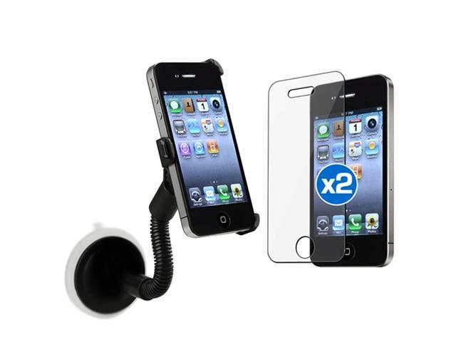 Windshield Car Mount Holder+2 Guard compatible with iPhone® 4 4S 4G 4GS 4G 4OS