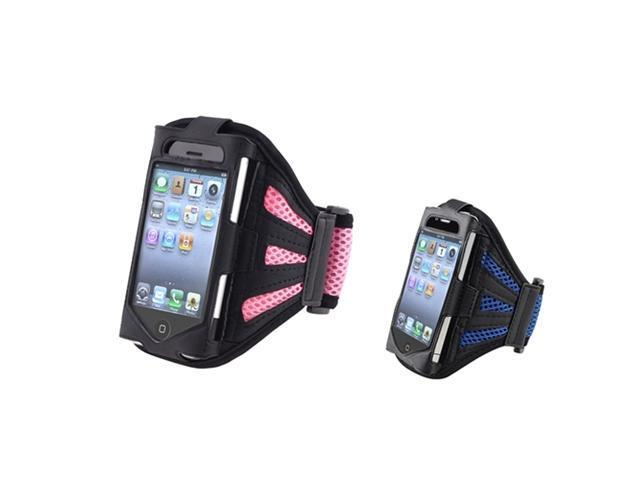 Black/Pink Sportband+Black/Dark Blue Sportband Case Skin Cover compatible with iPhone® 3G 3GS