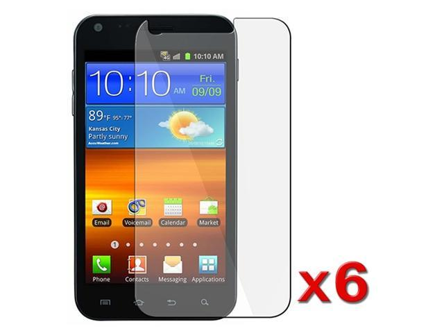 6 Pcs New Clear LCD Screen Protector compatible with Samsung© Sprint Epic 4G Touch Galaxy S2