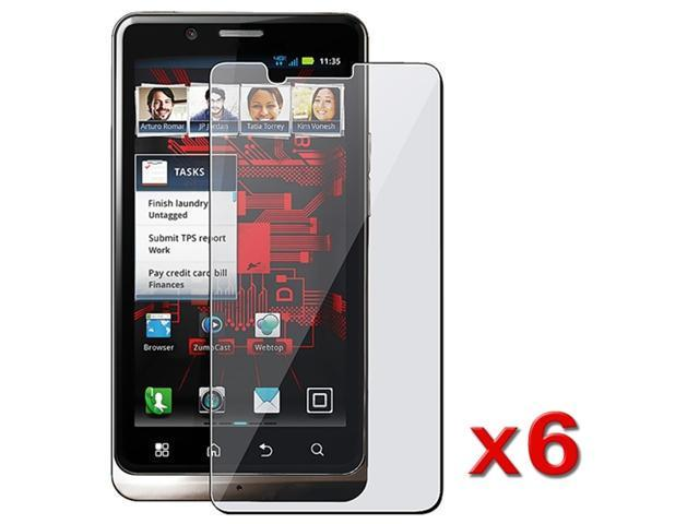 6x NEW CLEAR SCREEN PROTECTOR compatible with MOTOROLA Droid Bionic PREMIUM ACCESSORY