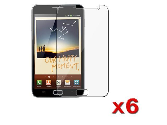 6 Premium LCD Clear Screen Protector Cover Guard compatible with Samsung© Galaxy Note N7000