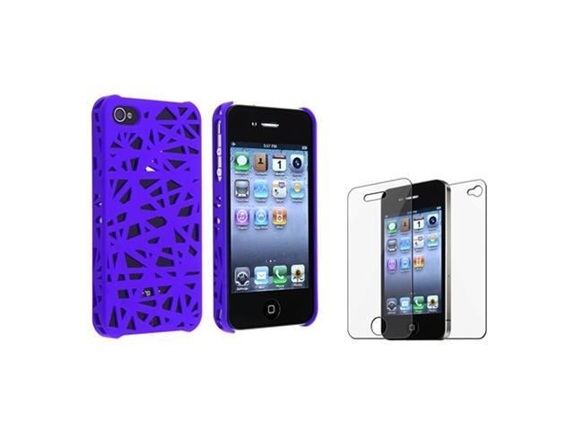 Blue Bird Nest Interwove Line Hard Case Cover+Guard Protector compatible with iPhone 4 4S