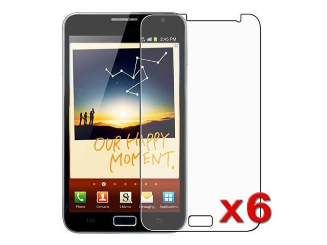 6pc Reusable Anti Glare LCD Screen Protector Guard compatible with Samsung© Galaxy Note N7000