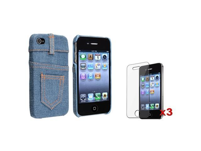 Insten Light Blue Perforated Cell Phone - Case & Covers