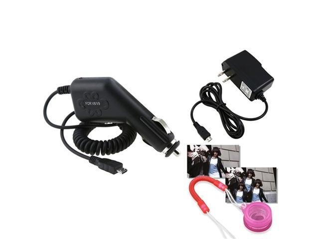 Car+Travel AC Charger compatible with HTC EVO 3D Shift 4G Sensation