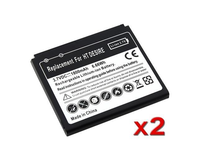 2pcs New 1800mAh Replacement Battery For HTC Nexus One G5 Desire G7