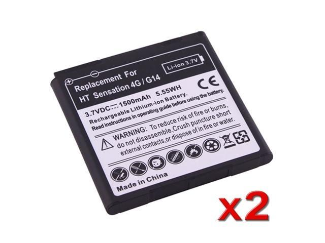 Insten White 2 Accessory Li-Ion Standard Replacement Battery for HTC Sensation 4G T-Mobile 649150