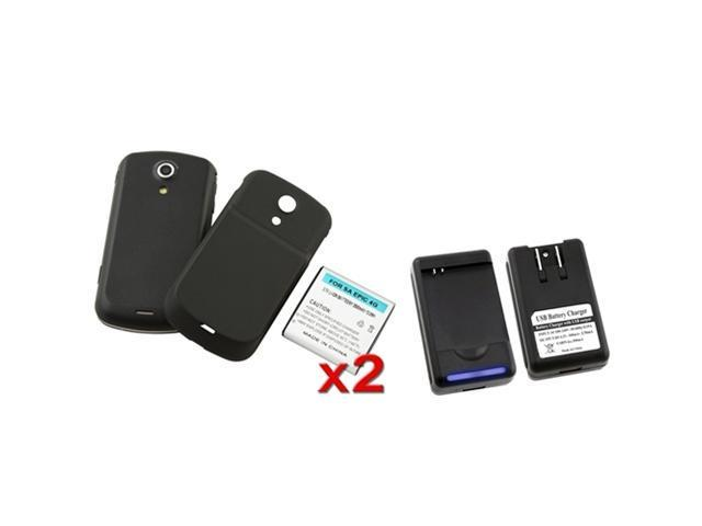 2X 3500mAh extended battery compatible with Samsung© Epic 4G D700 + Back Cover + Charger